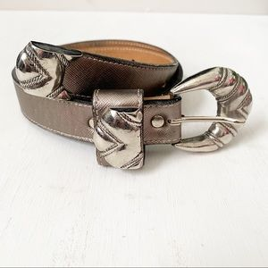 Leatherock Genuine Leather Belt With Silver Buckle